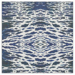 'Baltimore' Navy & White Nautical Waves Fabric