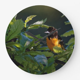 Baltimore Oriole in the Leaves Clock