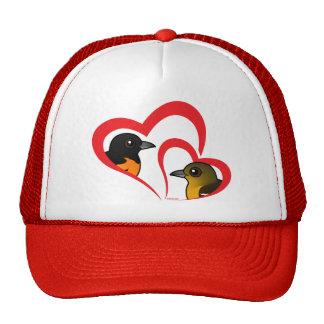 Baltimore Oriole Love Hats