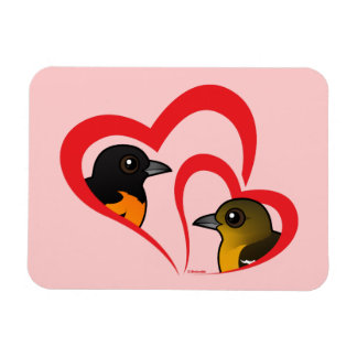 Baltimore Oriole Love Rectangle Magnets