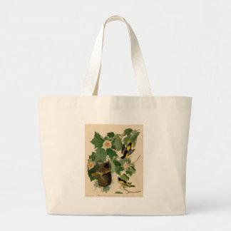 Baltimore Oriole Rare Audubon Large Tote Bag