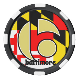 Baltimore Poker Chips, Maryland Flag Poker Chips
