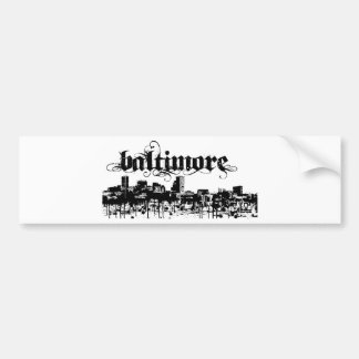 Baltimore put on for your city bumper sticker