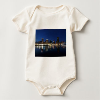 Baltimore Skyline at Dusk Baby Bodysuit