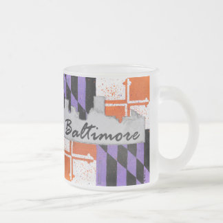 Baltimore Skyline Frosted Mug