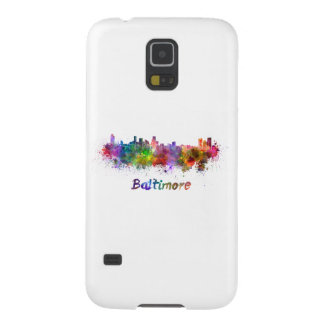 Baltimore skyline in watercolor galaxy s5 cases