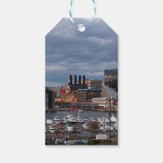 Baltimore Sundown Skyline Gift Tags