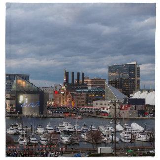 Baltimore Sundown Skyline Napkin