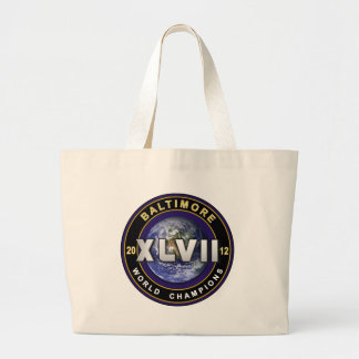 Baltimore XLVII World Champions Football Tote Jumbo Tote Bag