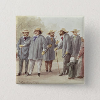 Balzac and Friends 15 Cm Square Badge