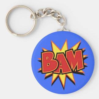 Bam-3 Basic Round Button Key Ring