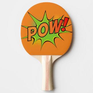 Bam! Pow! Vintage Comic Book Graphics Ping Pong Paddle