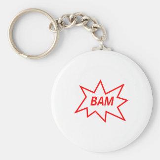 Bam Red Key Ring
