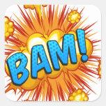 Bam Square Sticker