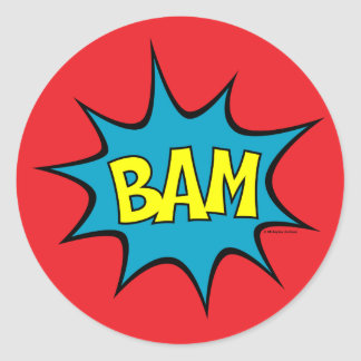 Bam Round Sticker