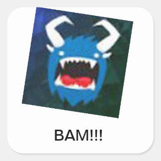 BAM sticker!!!!!!!!!!!!!!!!!!!!!!!!!!!!!!!!!!!!!! Square Sticker
