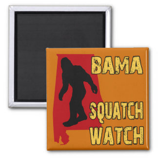 Bama Squatch Watch Square Magnet