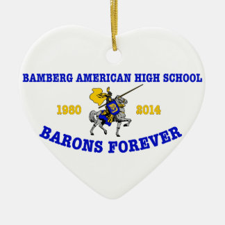 Bamberg High School 1980-2014 Christmas Ornaments