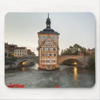 Bamberg Old Town Hall and Obere Bridge Mouse Pad