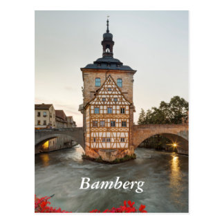 Bamberg Old Town Hall and Obere Bridge Postcard