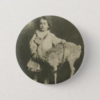 bambi and child 6 cm round badge