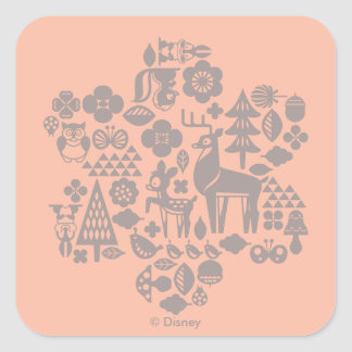 Bambi and Woodland Creatures Square Sticker