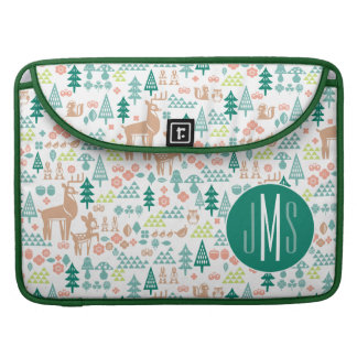 Bambi and Woodland Friends Pattern   Monogram Sleeve For MacBook Pro