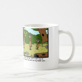 Bambi Eyes: Deer Cartoon Coffee Mug