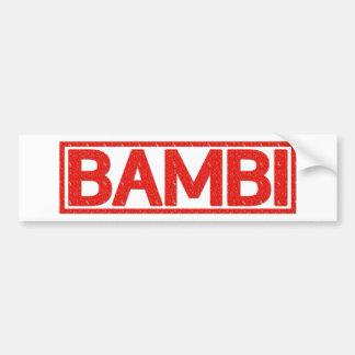 Bambi Stamp Bumper Sticker