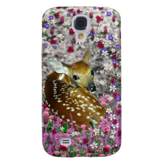 Bambina the Fawn in Flowers II Samsung Galaxy S4 Case
