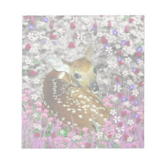 Bambina the Fawn in Flowers II Notepad
