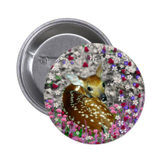 Bambina the Fawn in Flowers II Pinback Buttons