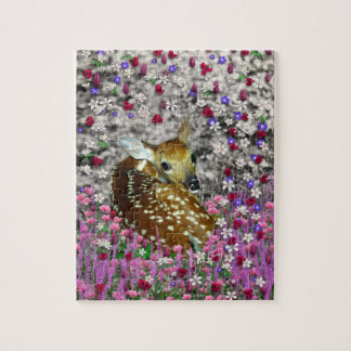 Bambina the Fawn in Flowers II Puzzles