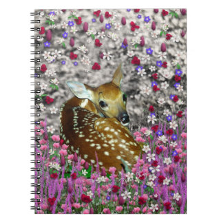 Bambina the Fawn in Flowers II Spiral Notebooks