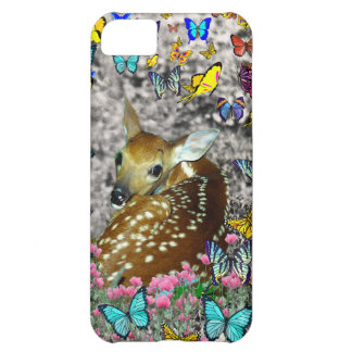 Bambina the White-Tailed Fawn in Butterflies iPhone 5C Case