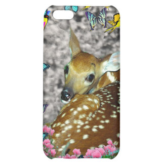 Bambina the White-Tailed Fawn in Butterflies Cover For iPhone 5C