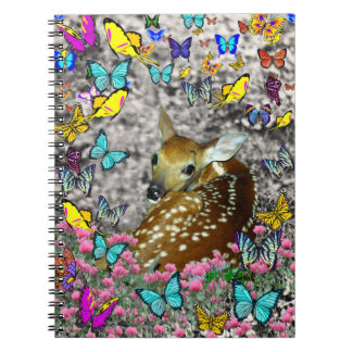 Bambina the White-Tailed Fawn in Butterflies Notebooks