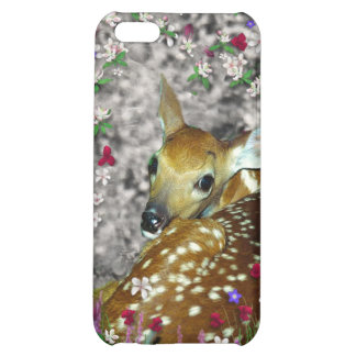 Bambina the White-Tailed Fawn in Flowers I iPhone 5C Cases