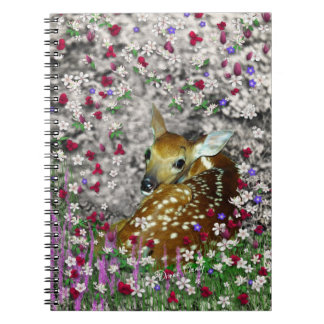 Bambina the White-Tailed Fawn in Flowers I Notebook