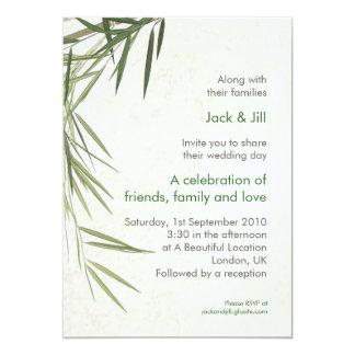 Bamboo 5x7 13 cm x 18 cm invitation card