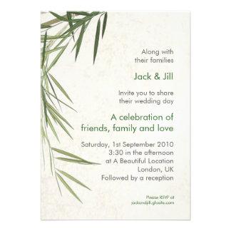Bamboo 5x7 invites