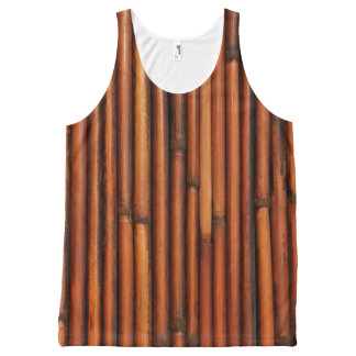 Bamboo All-Over Print Singlet