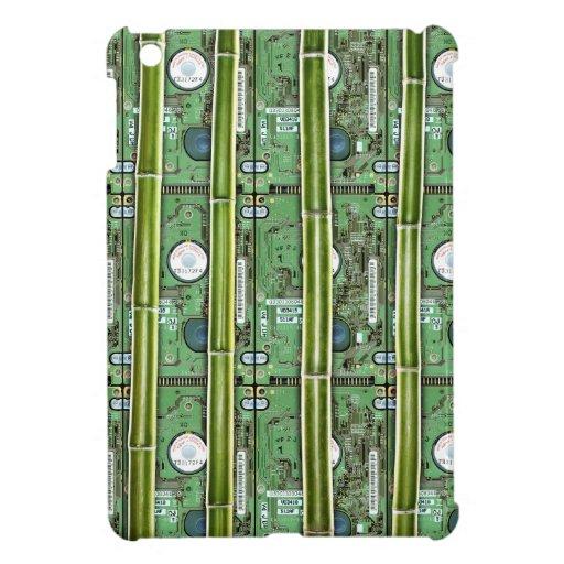Bamboo and Hard Drives Case For The iPad Mini