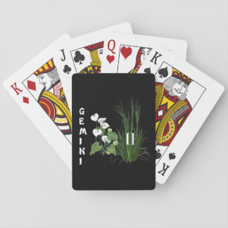 Bamboo and Lily Gemini Playing Cards