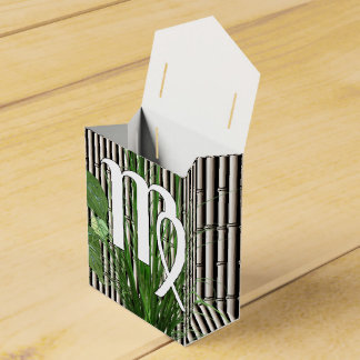 Bamboo and Lily Virgo Wedding Favour Boxes
