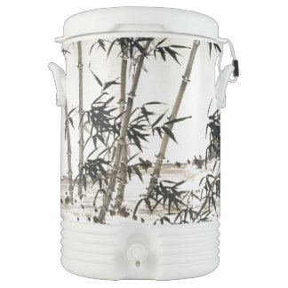 Bamboo Asian Leaves Nature Igloo Cooler