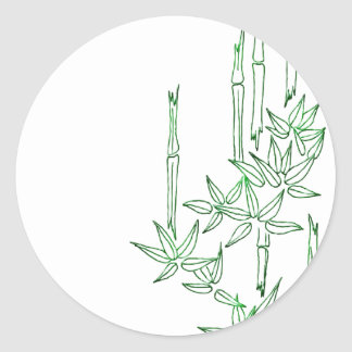 Bamboo Asian Themed Stickers
