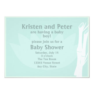 Bamboo Baby Shower Invitation