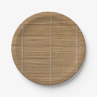 Bamboo Beach Mat 7 Inch Paper Plate