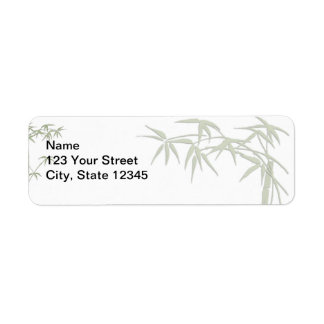 Bamboo Beauty Return Address Label